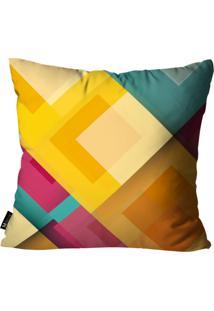 Capa Para Almofada Mdecor Abstrato 45X45Cm Amarelo