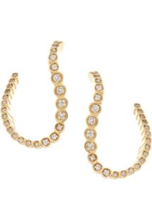 Aron & Hirsch Par De Brincos 'Swell Diamante' Ouro 18K - Metálico