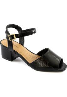 Sandália Salto Bloco Número Especial Sapato Show 2567578