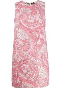 Dolce & Gabbana Vestido Sem Mangas De Jacquard - Rosa