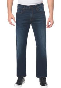 Calça Jeans Five Pockets Relexed Straigh - Azul Marinho - 38