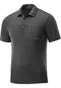 Camisa Salomon Polo Colombo Masculina M Cinza Escuro