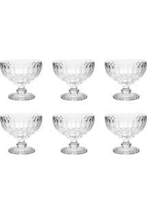 Conjunto Taças Coupe Champagne Lyor Libélula 6 Pçs 310Ml Transparente