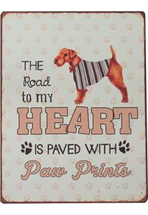 Placa Decorativa Paw Prints