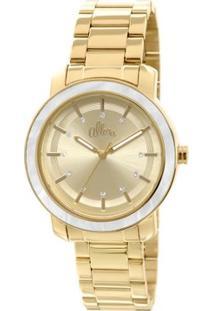 Relógio Allora Flor Da Pele Pérolas - Feminino-Dourado