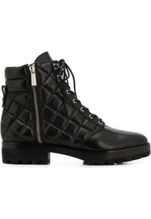 Michael Michael Kors Ankle Boot Com Amarração - Preto