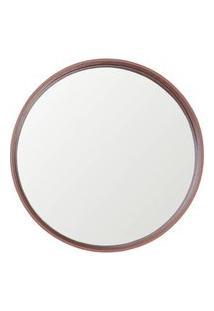 Espelho Manaus Redondo Prata Borda Cobre 40Cm - 60284 Sun House