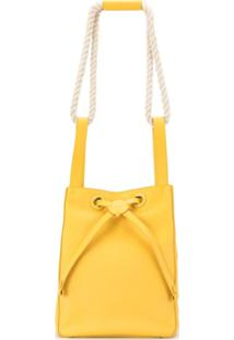 Rodo Drawstring Bucket Bag - Amarelo