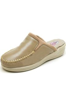 Babuche Sandalia Tamanco Conforto Top Franca Shoes Marfim