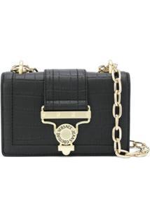 Versace Jeans Couture Salopette Buckled Shoulder Bag - Preto