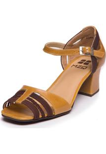 Sandália Salto Baixo - Pequi / Chocolate - 5389 Mzq - Kanui