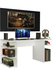 Mesa Gamer Madesa 9409 E Painel Para Tv Atã© 50 Polegadas - Branco/Preto Branco - Branco - Dafiti