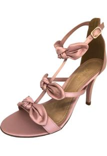 Sandália Osmoze Salto Fino Laços - Feminino-Rosa