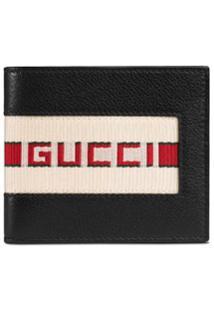 Gucci Carteira De Couro Com Logo - Preto