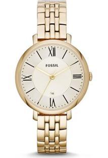f292de49c5b438 R$ 979,90. Zattini Relógio Dourado Feminino Fossil ...