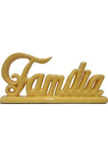 Escultura Decorativa Família Amarela 12,5X27,5 Cm