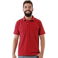 33dd28e436 Camisa Pólo Bordo Vermelha masculina