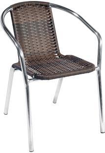 Cadeira Aluminio C/ Fibra 99 – Alegro Móveis. - Castanho