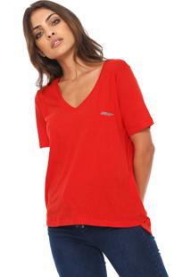 Camiseta Ellus Cotton Gaze Vermelha