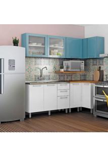 Cozinha Completa Play 9 Pt 2 Gv Azul E Branca