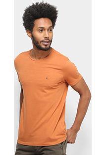 Camiseta Ellus Básica Masculina - Masculino-Marrom Claro
