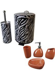 Kit Wincy Para Banheiro 5 Peças Com Lixeira Saboneteira Porta Escova Sabão Liquido - Deca 102