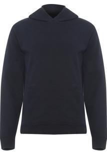 Blusa Masculina E-Basics Fleece Hoodie Color - Preto