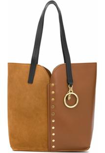 See By Chloé Stud-Embellished Panelled Tote - Marrom