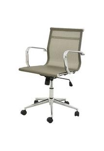 Cadeira Sevilha Eames Baixa Cromada Tela Dourada - 38051 Dourado