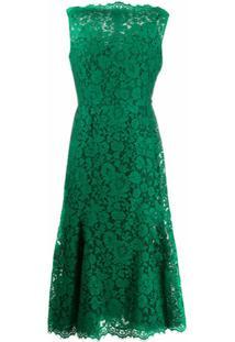 Dolce & Gabbana Vestido Sem Mangas Com Renda Floral - Verde