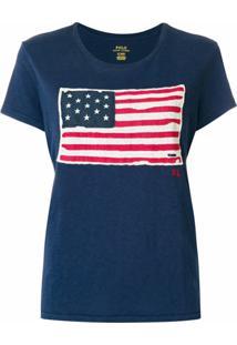 Polo Ralph Lauren Camiseta Com Estampa 'American Flag' - Azul