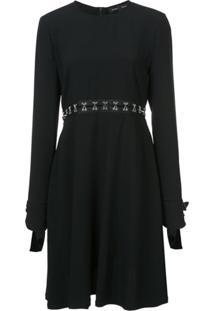 Proenza Schouler Vestido Com Vazados - Preto