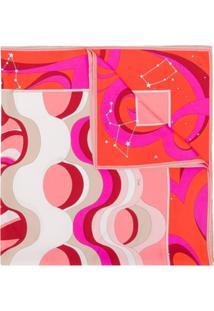 Emilio Pucci Lenço Com Estampa Astrology - Rosa