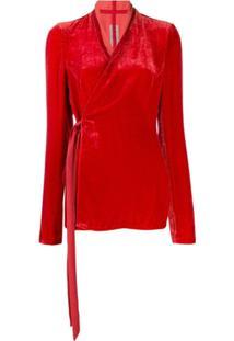 Rick Owens Velvet Wrap Jacket - Vermelho