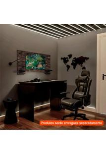 Conjunto De Mesa Com Cadeira Gamer E Suíça Preta E Terrano