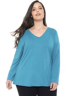 Blusa Cativa Plus Lisa Verde