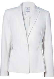 Blazer Le Lis Blanc Olivia Detalhe Fivela Alfaiataria Off White Feminino (Off White, 50)