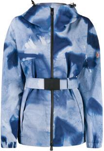 Moncler Grenoble Jaqueta Oversized Com Cinto - Azul