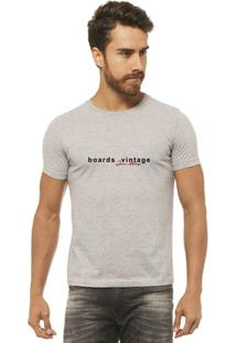 Camiseta Joss - Boards Vintage - Masculina - Masculino-Mescla