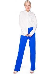 Calça Pantalona Com Faixa