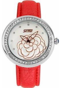 Relógio Skmei Analógico 9087 - Feminino-Vermelho