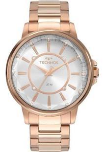 Relógio Technos Fashion 2039Cl4K Feminino - Feminino-Rosê