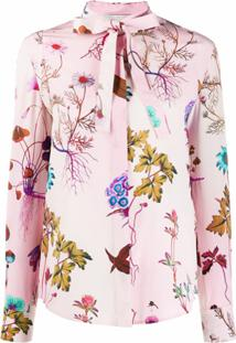Stella Mccartney Blusa Mangas Longas Com Estampa Floral - Rosa