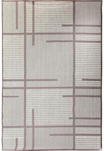 Tapete Sisllê Geométrico V Retangular Polipropileno (133X190) Tabaco
