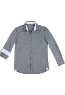 Camisa Masculina Hering Em Modelo Comfort Em Tecido De Algodão