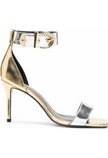 Versace Jeans Couture Sandália Color Block - Cinza