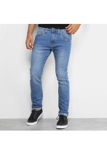 Calça Jeans Rock & Soda Skinny Estonada Masculina - Masculino