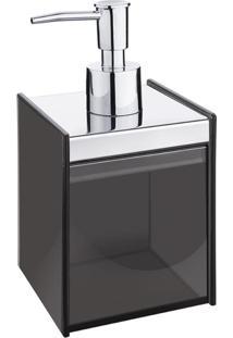 Porta Sabonete Líquido Quadrata-Fume Aço Inox 1983010 Brinox
