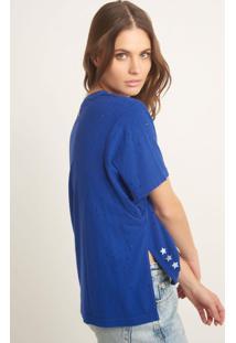 Blusa Bobô Hexa Malha Azul Feminina (Azul Medio, M)