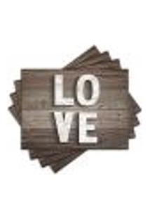 Jogo Americano - Love Com 4 Peças - 736Jo